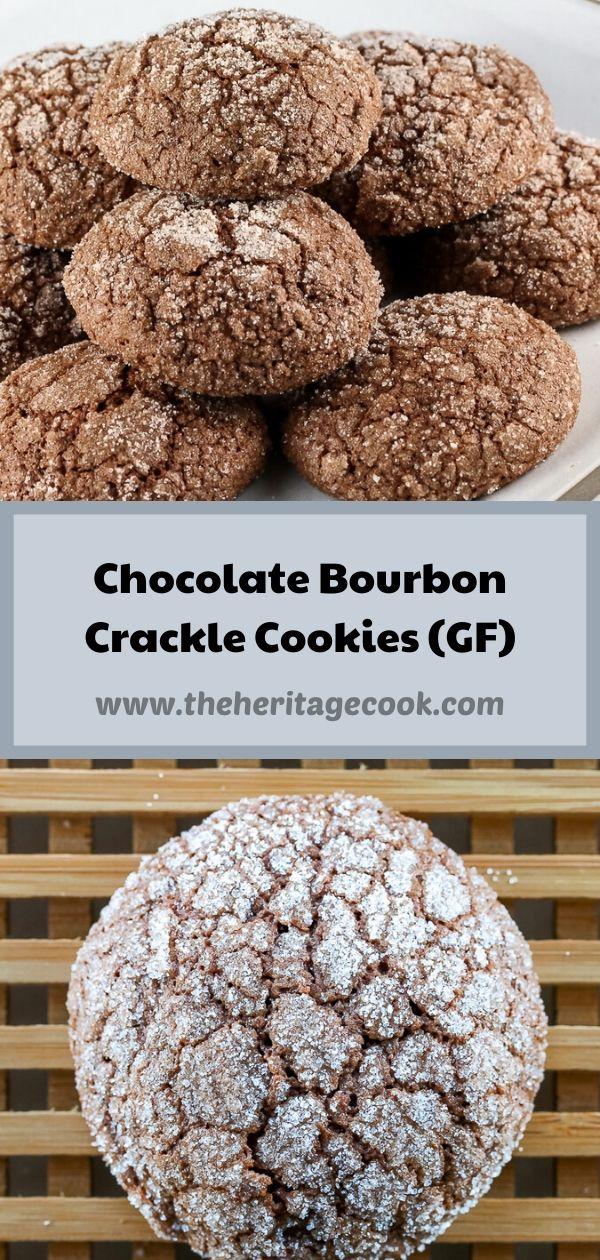 Dark Chocolate Bourbon Crackle Cookies © 2020 Jane Bonacci, The Heritage Cook