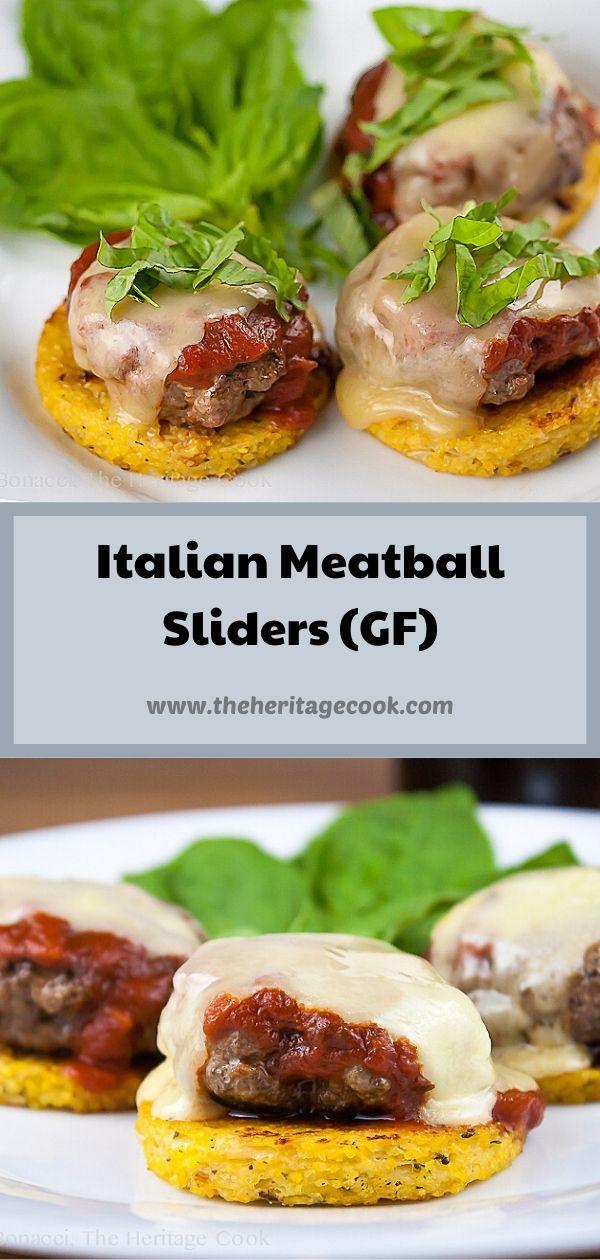 Gluten-Free Meatball Parmesan Sliders; © 2020 Jane Bonacci, The Heritage Cook