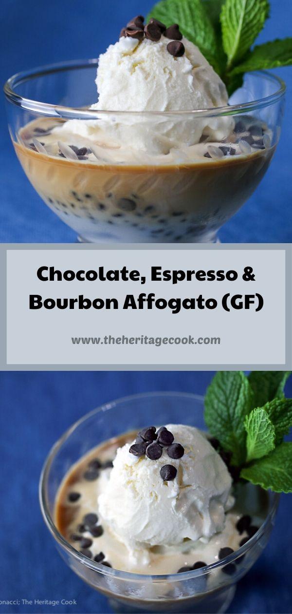 Chocolate, Espresso, and Bourbon Affogato Italian Dessert (Gluten Free) © 2020 Jane Bonacci, The Heritage Cook