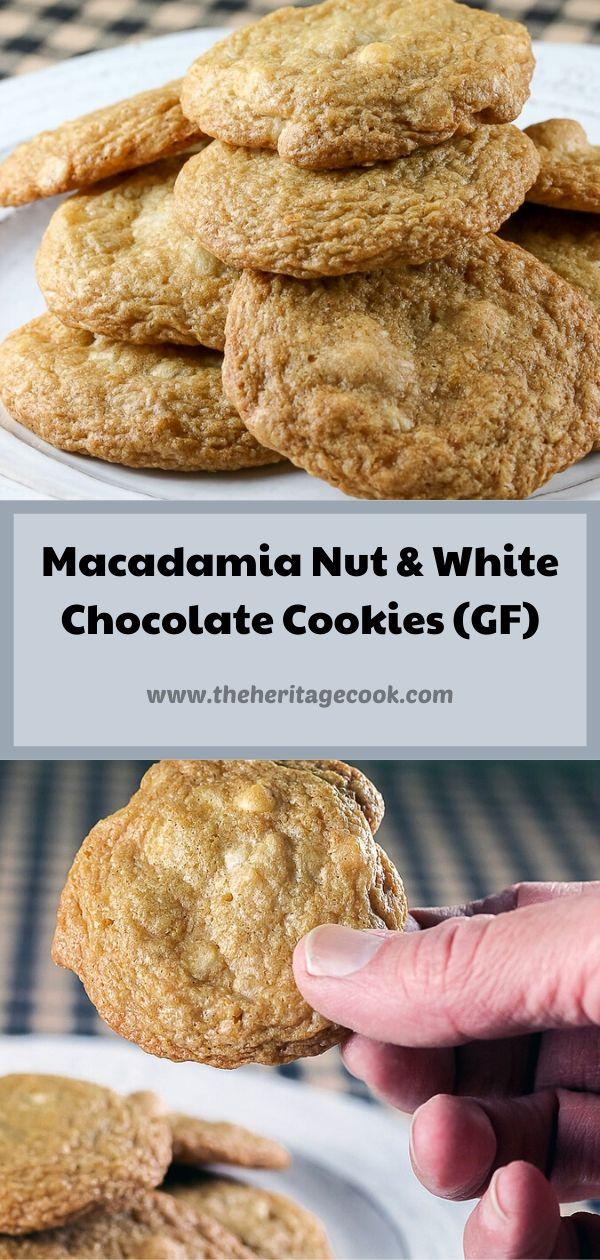 Macadamia Nut White Chocolate Chip Cookies © 2020 Jane Bonacci, The Heritage Cook
