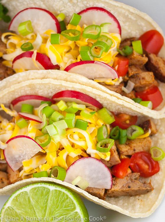 Carne Asada Street Tacos (Gluten Free) © 2020 Jane Bonacci, The Heritage Cook