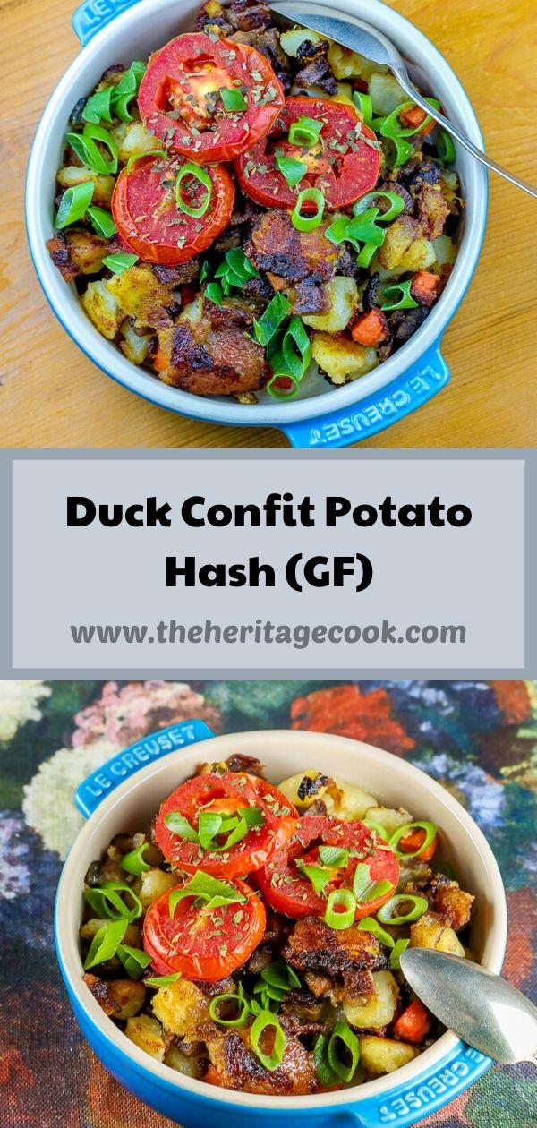 Duck Confit Potato Hash (Gluten Free) © 2020 Jane Bonacci, The Heritage Cook