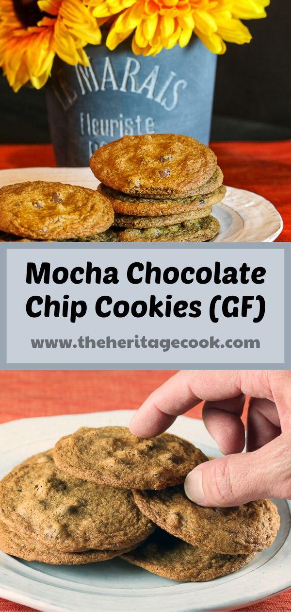 Mocha Chocolate Chip Cookies (Gluten-Free) © 2020 Jane Bonacci, The Heritage Cook