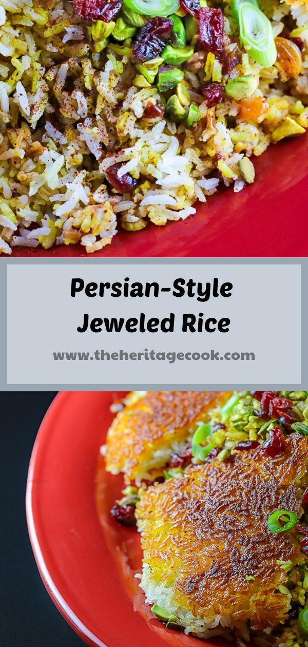 Persian-Style Jeweled Rice © 2020 Jane Bonacci, The Heritage Cook