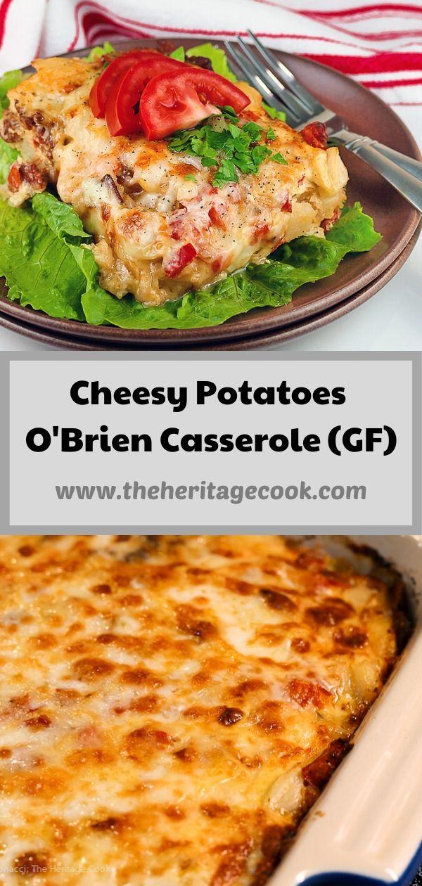 Easy Cheesy Potatoes O'Brien and Bacon Casserole © 2020 Jane Bonacci, The Heritage Cook