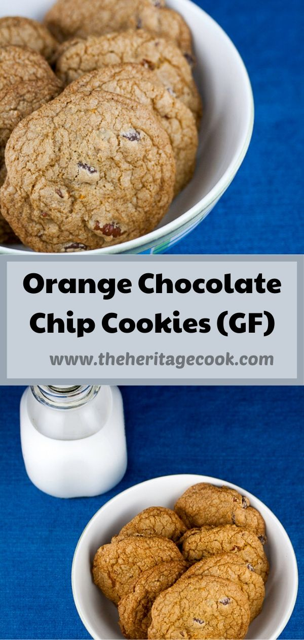 Orange Chocolate Chip Cookies © 2020 Jane Bonacci, The Heritage Cook