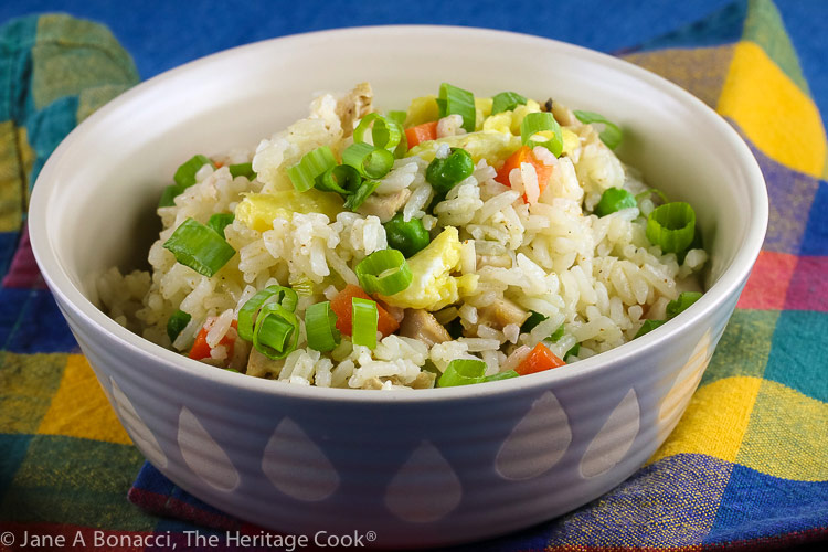 Chicken Fried Rice (Gluten Free) © 2020 Jane Bonacci, The Heritage Cook