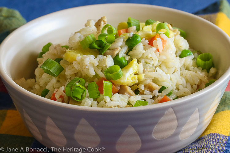 Chicken Fried Rice (Gluten Free) © 2020 Jane Bonacci, The Heritage Cook