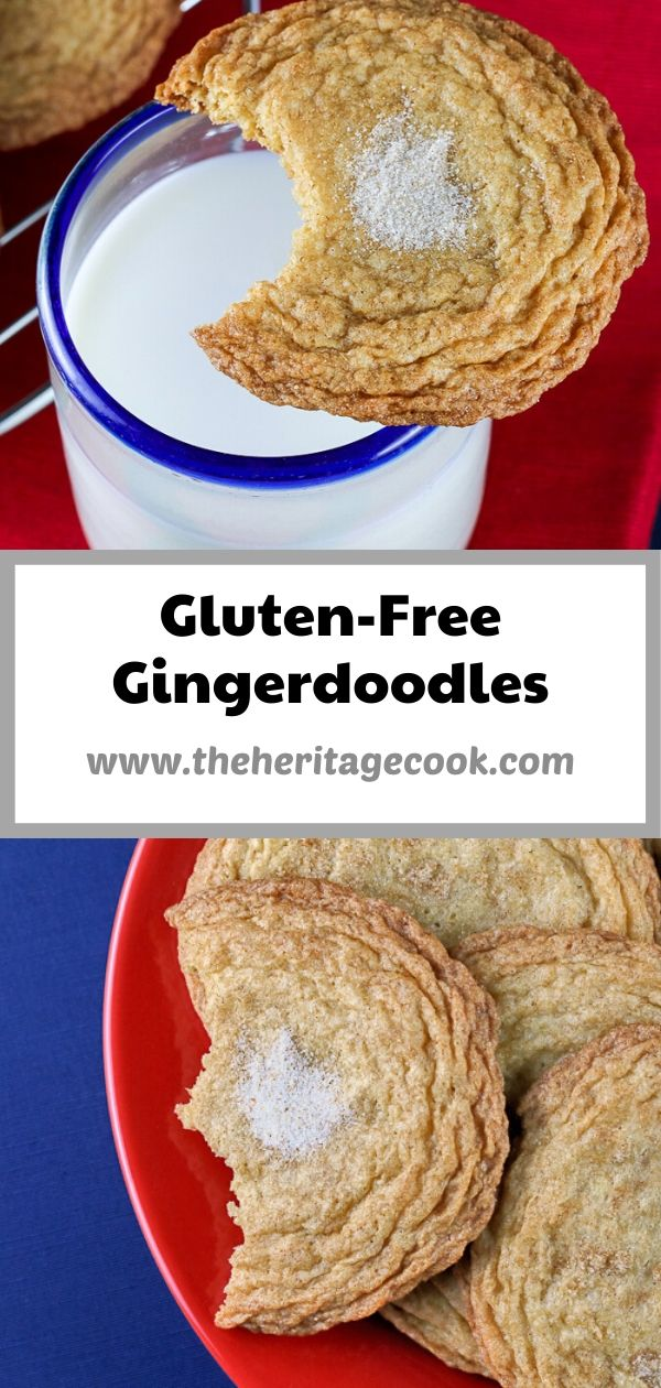 Gluten Free Gingerdoodle Cookies © 2020 Jane Bonacci, The Heritage Cook