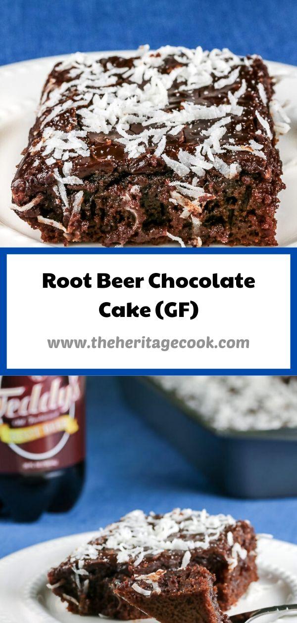 Root Beer Chocolate Cake with Root Beer Glaze © 2020 Jane Bonacci, The Heritage Cook