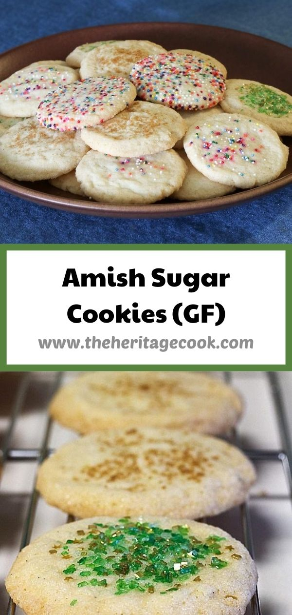Amish Sugar Cookies © 2020 Jane Bonacci, The Heritage Cook