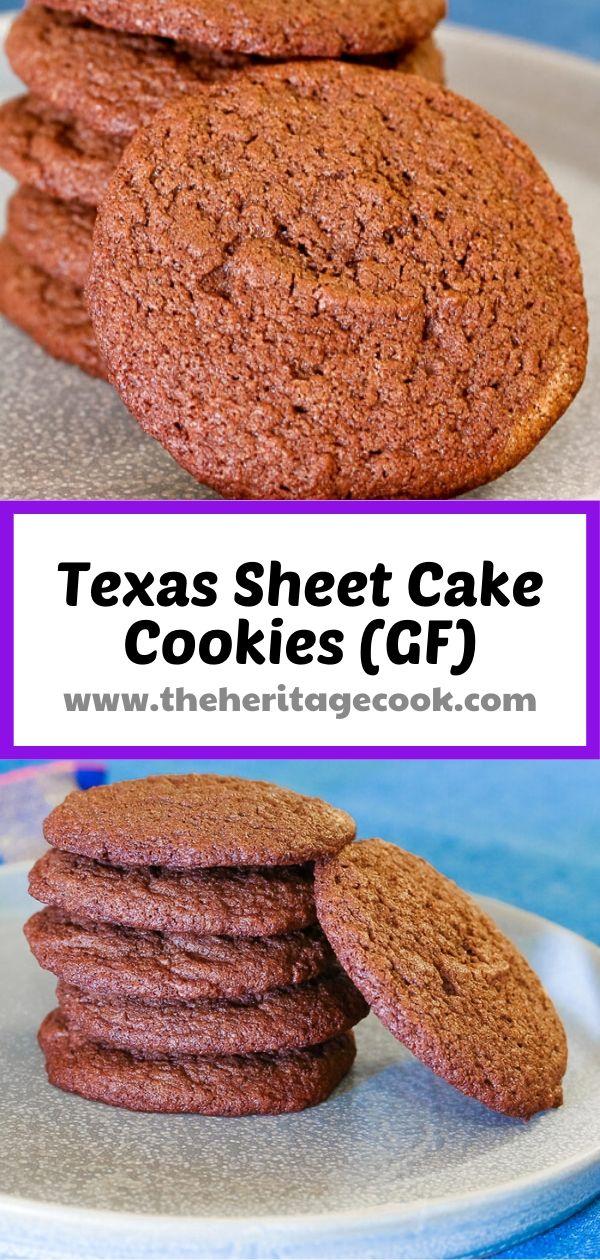 Texas Sheet Cake Cookies © 2020 Jane Bonacci, The Heritage Cook