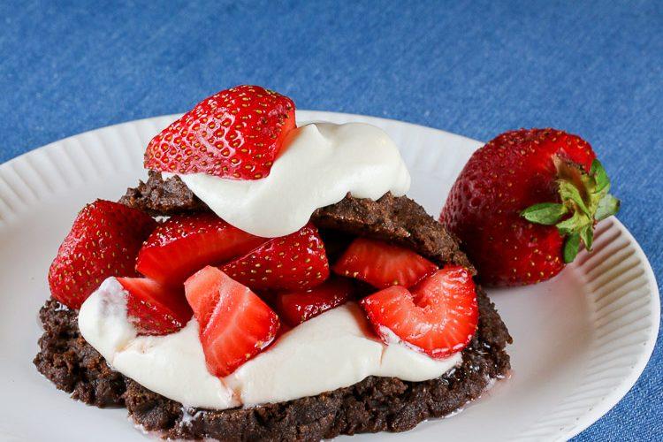 Berry and Chocolate Shortcakes (Gluten Free) © 2020 Jane Bonacci, The Heritage Cook