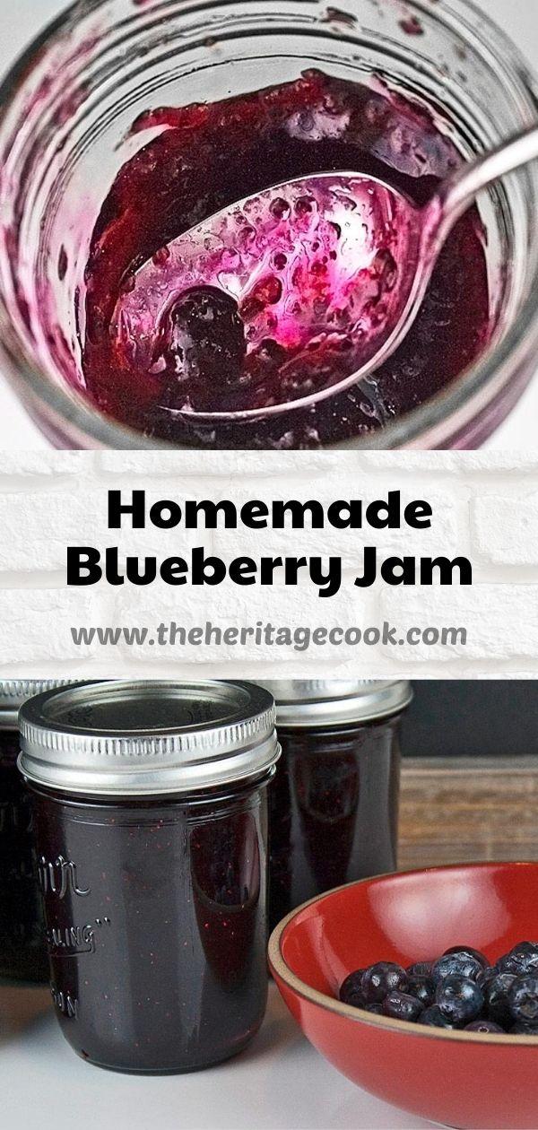 Homemade Blueberry Jam © 2020 Jane Bonacci, The Heritage Cook