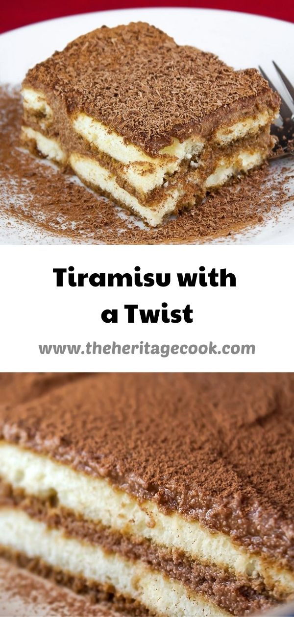 Tiramisu with a Twist © 2020 Jane Bonacci, The Heritage Cook