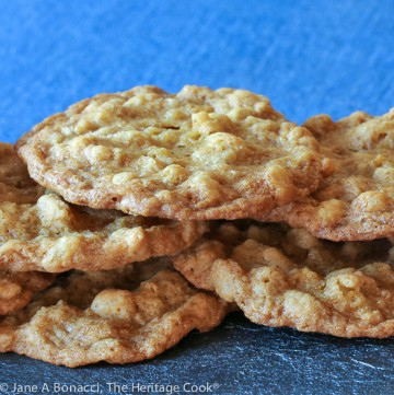 White Chocolate Ranger Cookies (Gluten Free) © 2020 Jane Bonacci, The Heritage Cook
