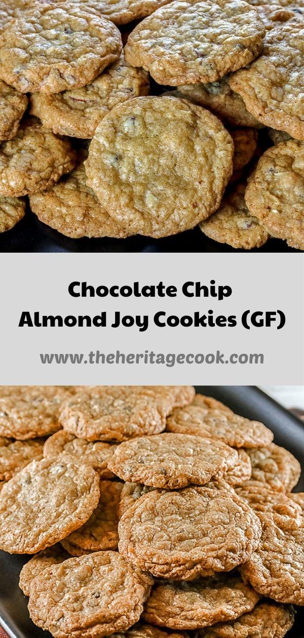 Chocolate Chip Almond Joy Cookies © 2020 Jane Bonacci, The Heritage Cook