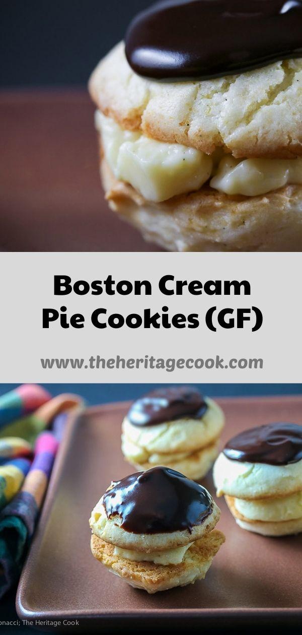 Boston Cream Pie Cookies (Gluten Free) © 2020 Jane Bonacci, The Heritage Cook