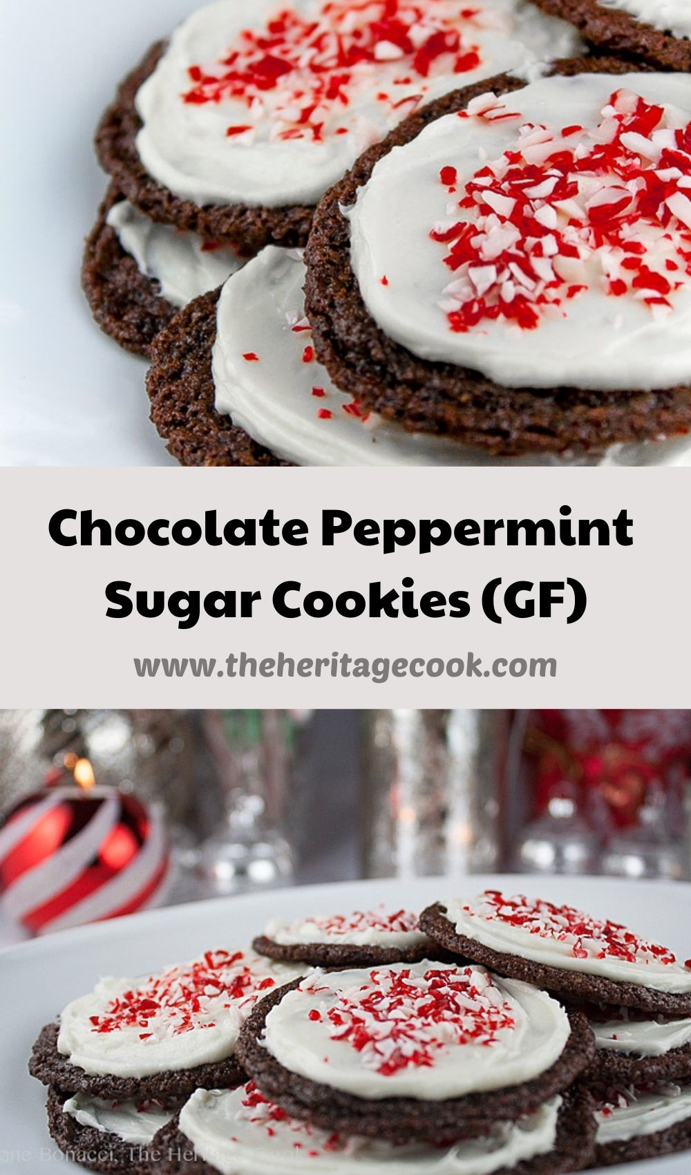 Chocolate Peppermint Cookies (SRC); 2020 Jane Bonacci, The Heritage Cook