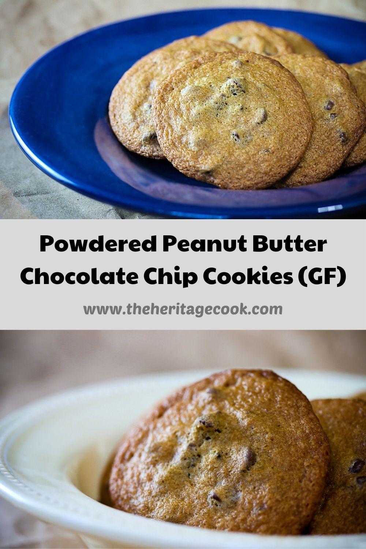 Powdered Peanut Butter Chocolate Chip Cookies; © 2020 Jane Bonacci, The Heritage Cook