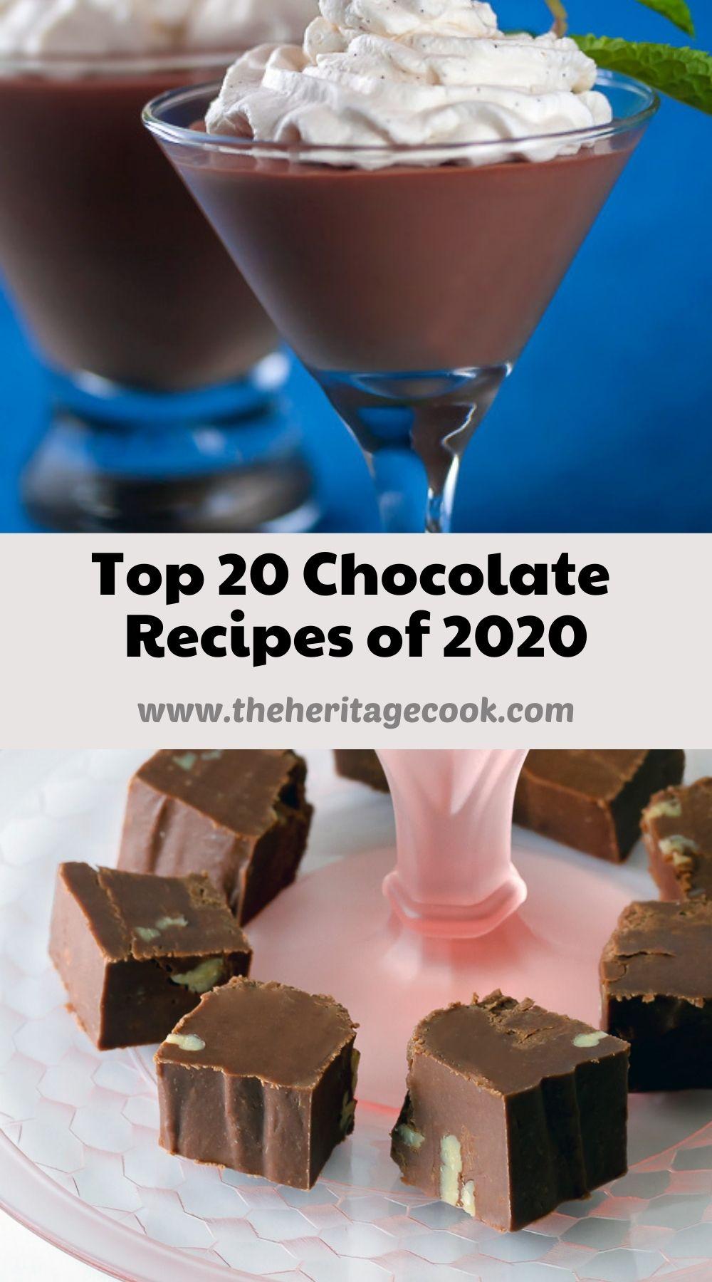 Top 20 Chocolate Recipes of 2020 Jane Bonacci, The Heritage Cook