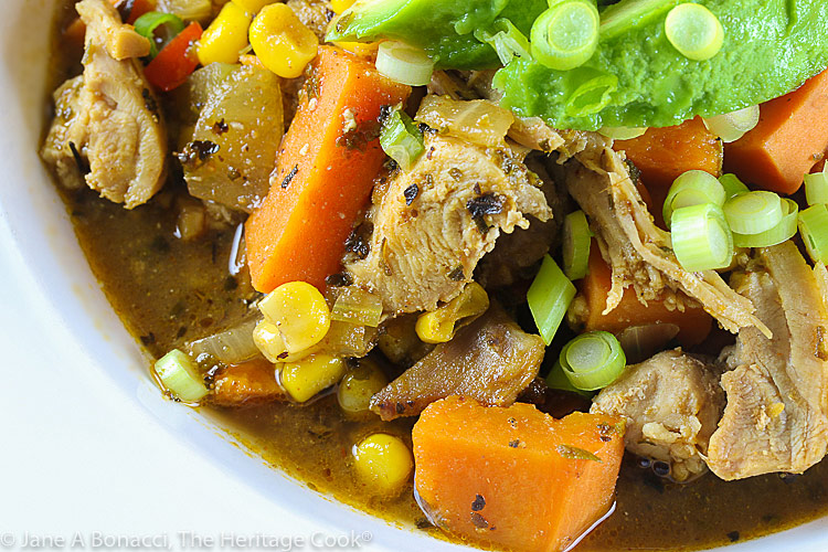 Chicken and Sweet Potato Chili (GF) © 2021 Jane Bonacci, The Heritage Cook