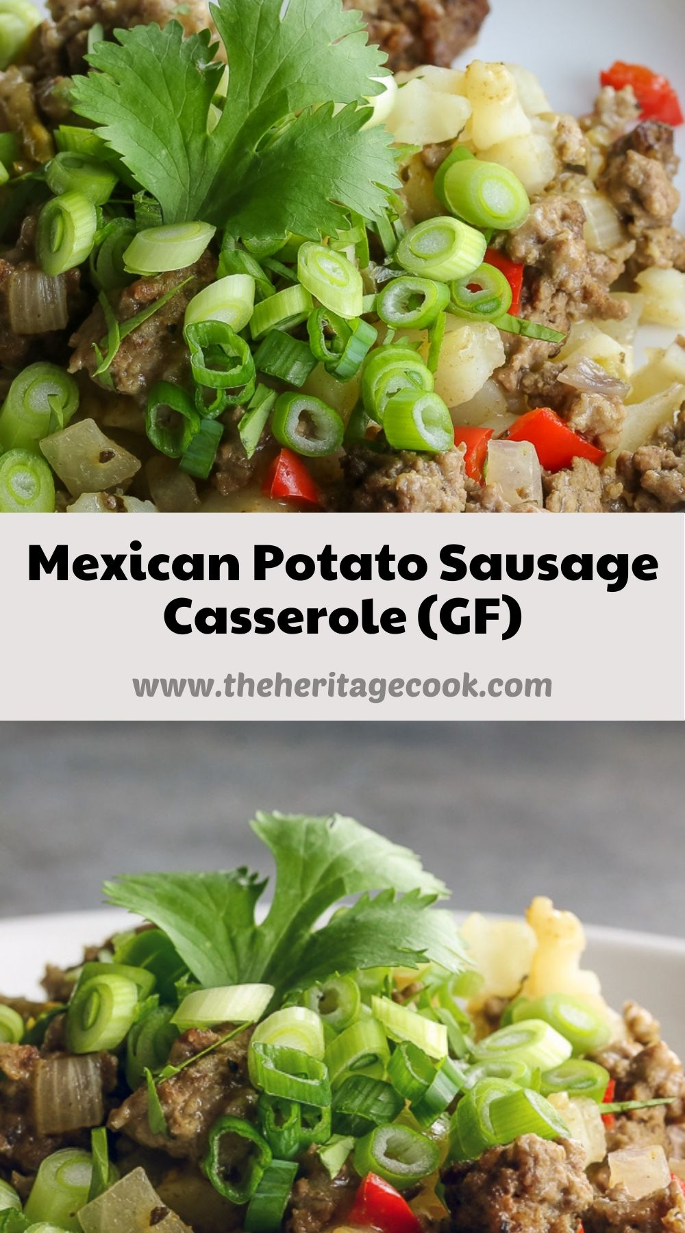 Mexican Potato Sausage Casserole © 2021 Jane Bonacci, The Heritage Cook