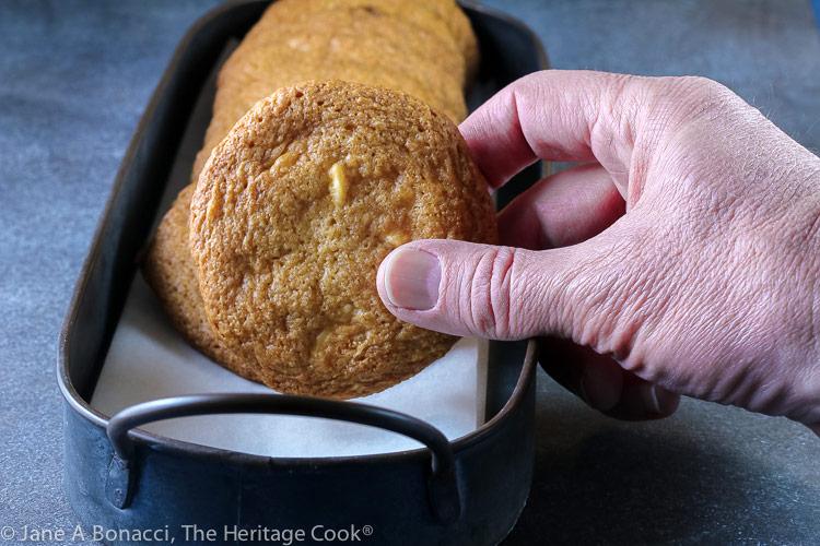 Bourbon White Chocolate Cookies © 2021 Jane Bonacci, The Heritage Cook