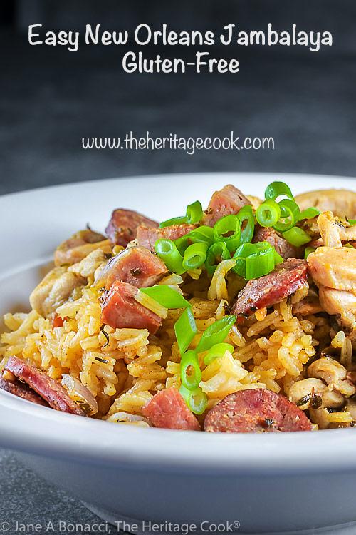 Easy New Orleans Jambalaya © 2021 Jane Bonacci, The Heritage Cook