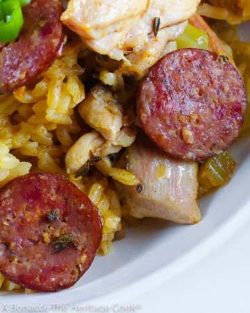 Easy New Orleans Jambalaya © 2021 Jane Bonacci, The Heritage Cook