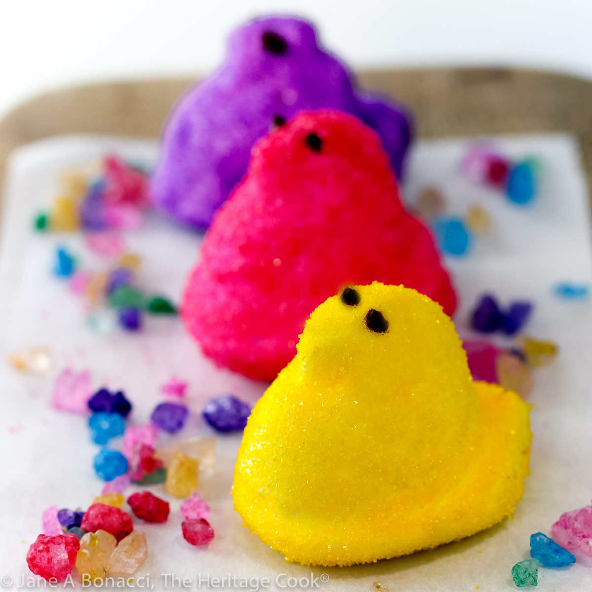 Homemade Marshmallow Peeps; @ 2021 Jane Bonacci, The Heritage Cook