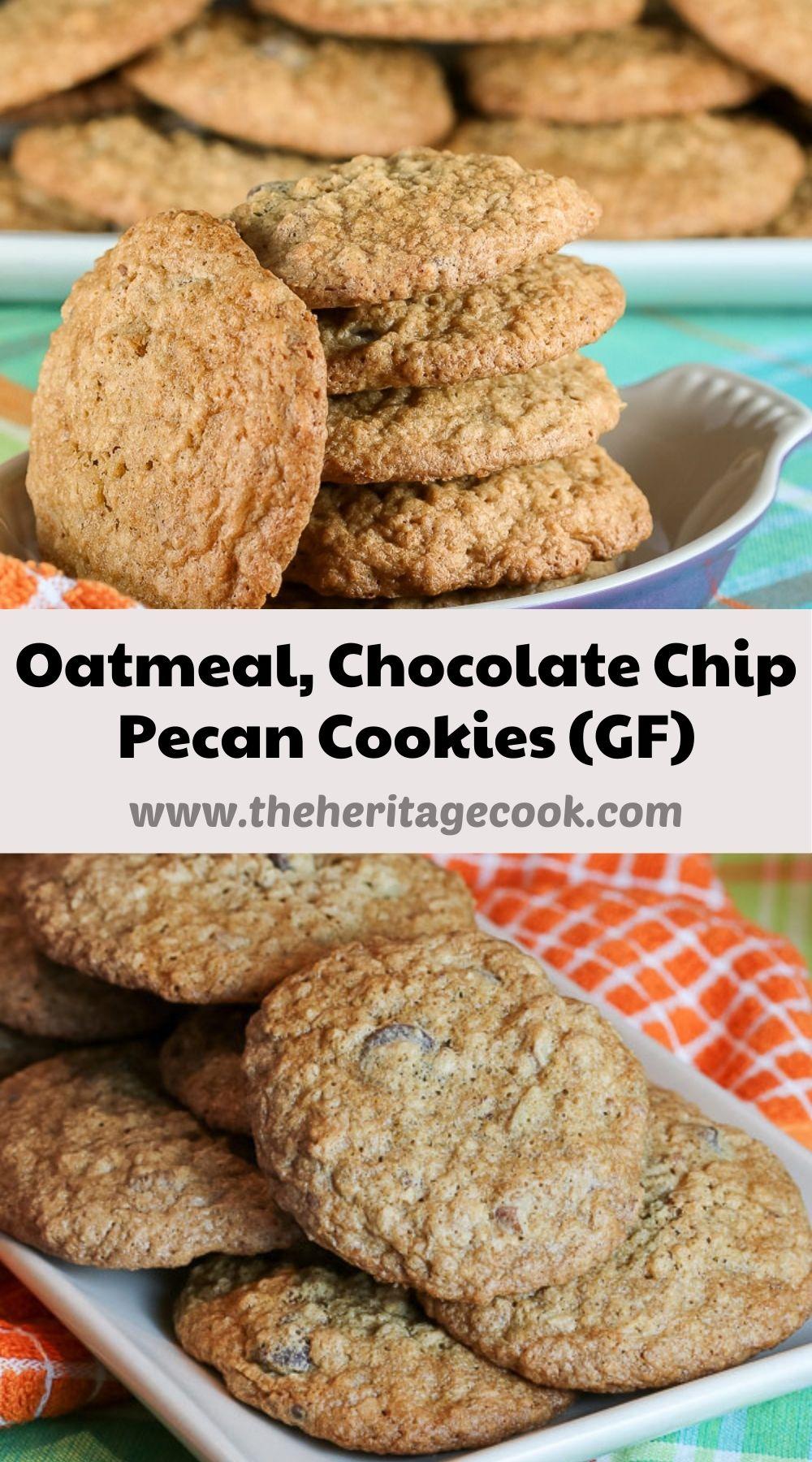 Oatmeal Chocolate Chip Pecan Cookies © 2021 Jane Bonacci, The Heritage Cook