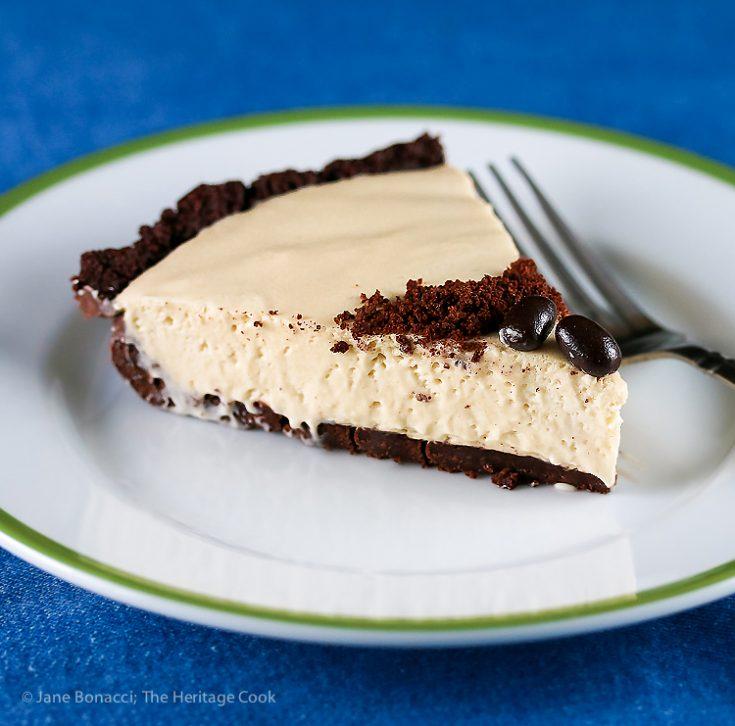 Kahlua Cream Pie with Chocolate Cookie Crust © 2021 Jane Bonacci, The Heritage Cook