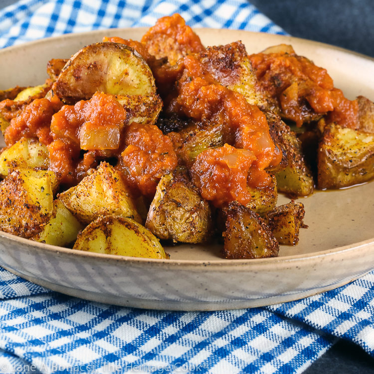 Patatas Bravas (Gluten Free) © 2021 Jane Bonacci, The Heritage Cook