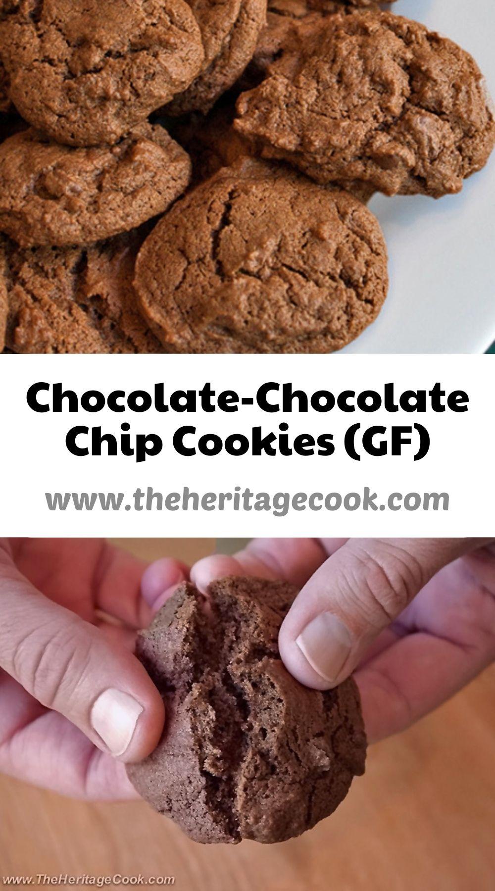 Chocolate-Chocolate Chip Cookies; 2021 Jane Bonacci, The Heritage Cook