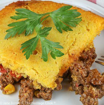 Beefy Taco Casserole © 2021 Jane Bonacci, The Heritage Cook
