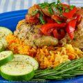 Lemony Chicken Scarpariello © 2021 Jane Bonacci, The Heritage Cook