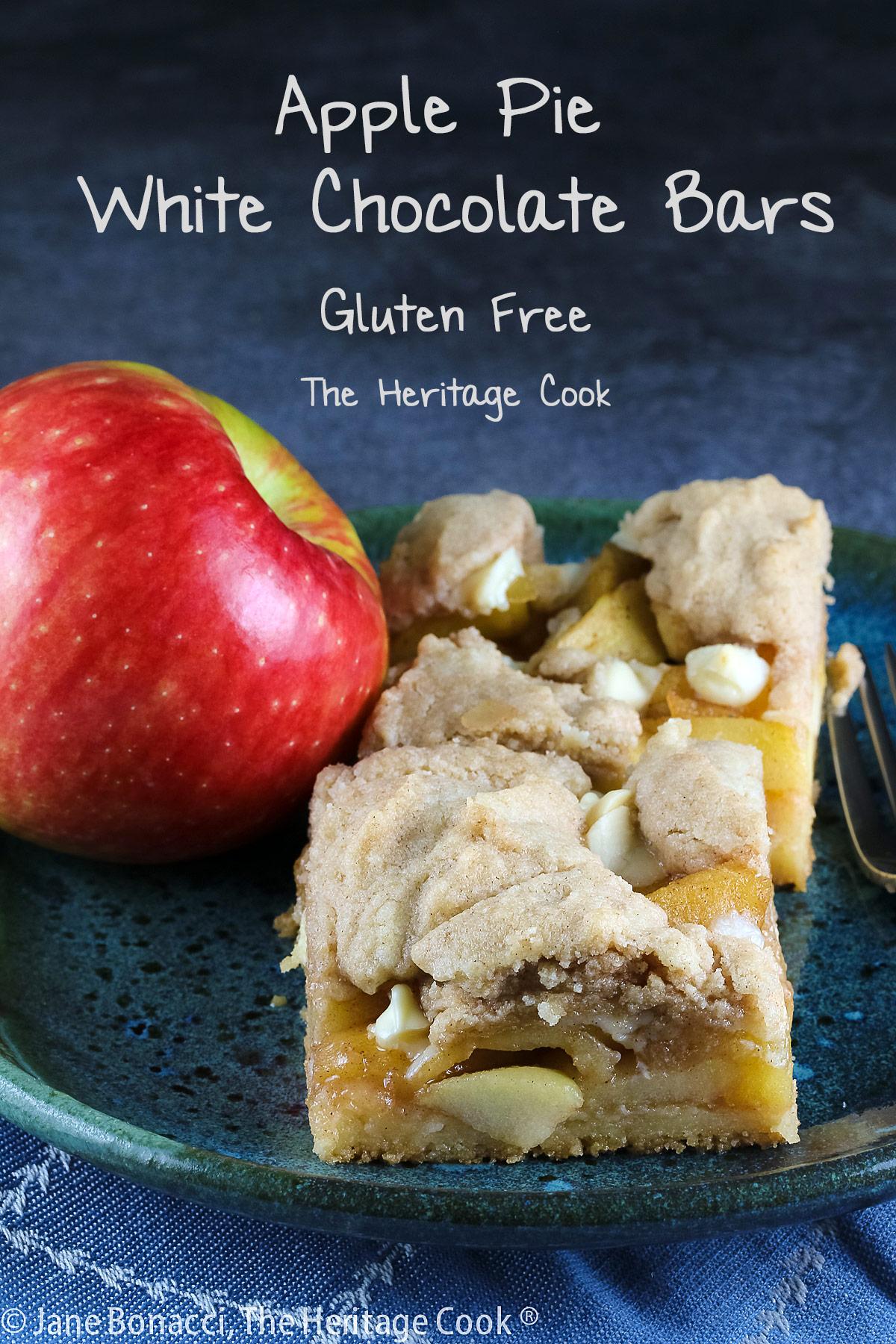Apple Pie White Chocolate Bars © 2021 Jane Bonacci, The Heritage Cook