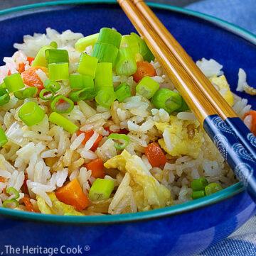 Gluten Free Hibachi Style Fried Rice © 2021 Jane Bonacci, The Heritage Cook