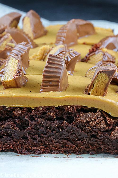 Gluten Free Peanut Butter Cup Brownies © 2021 Jane Bonacci, The Heritage Cook