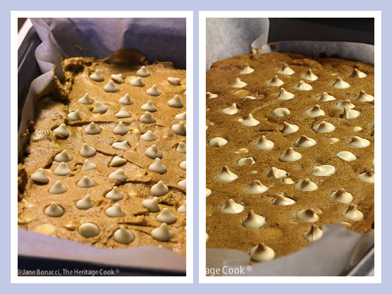 Before and after baking shots